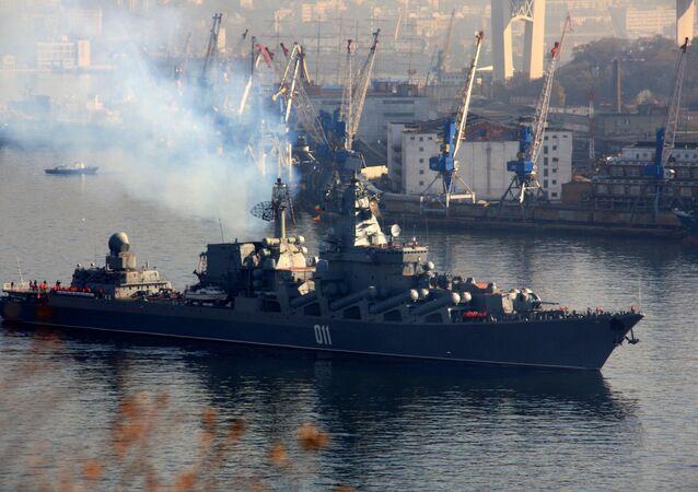 El crucero lanzamisiles ruso (imagen referencial)