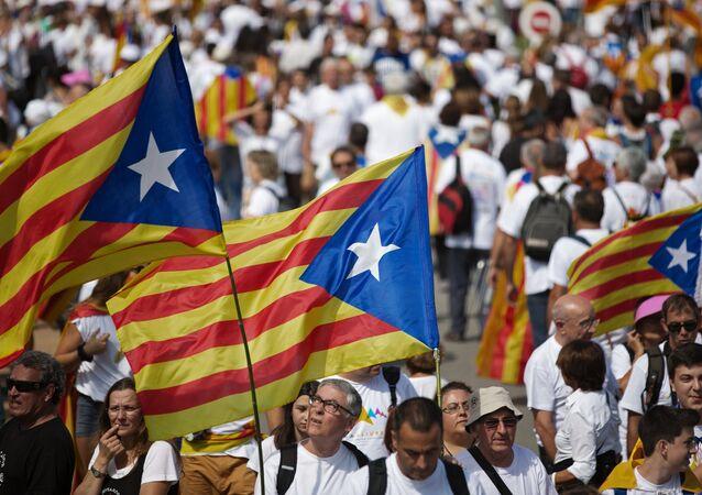 La celebración del Día de Cataluña en Barcelona (archivo)