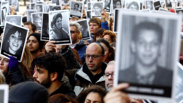 Acto organizado por las principales organizaciones judías de Argentina para rememorar el ataque contra la Asociación Mutualista Israelita Argentina (AMIA) - Sputnik Mundo