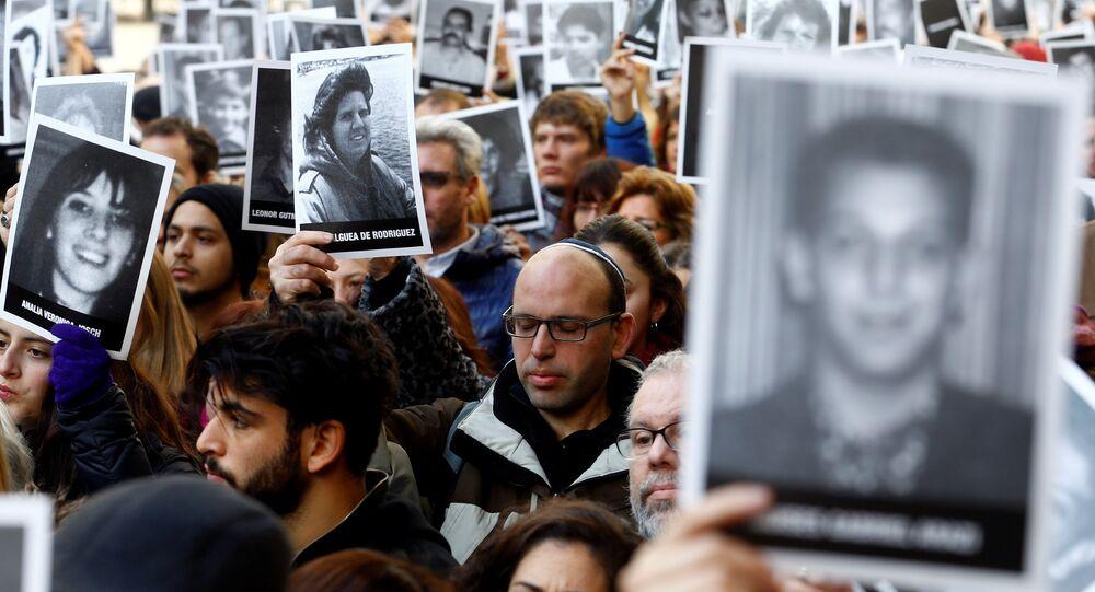 Acto organizado por las principales organizaciones judías de Argentina para rememorar el ataque contra la Asociación Mutualista Israelita Argentina (AMIA) (archivo)