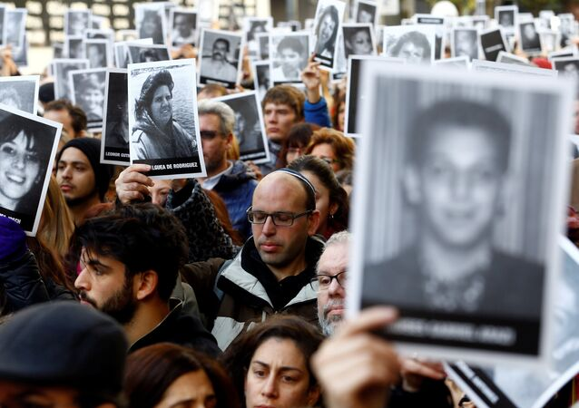 Acto organizado por las organizaciones judías de Argentina para rememorar el ataque contra la Asociación Mutualista Israelita Argentina (AMIA)