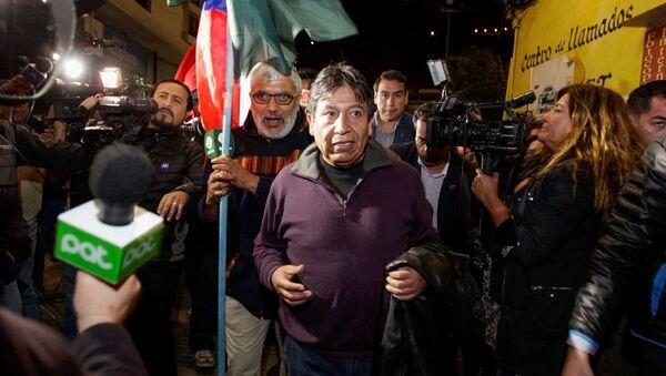 El canciller boliviano, David Choquehuanca, en el puerto chileno de Arica - Sputnik Mundo