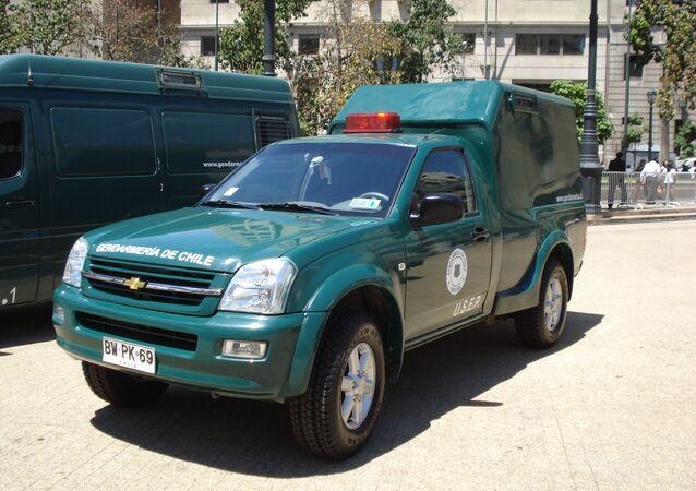 Camioneta de la Gendarmería de Chile