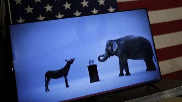 Símbolos de los partidos políticos de EEUU - Sputnik Mundo