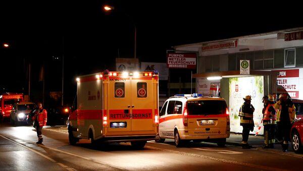 Los servicos de emergencia en el lugar del ataque del joven afgano a los pasajeros del tren en Alemania - Sputnik Mundo