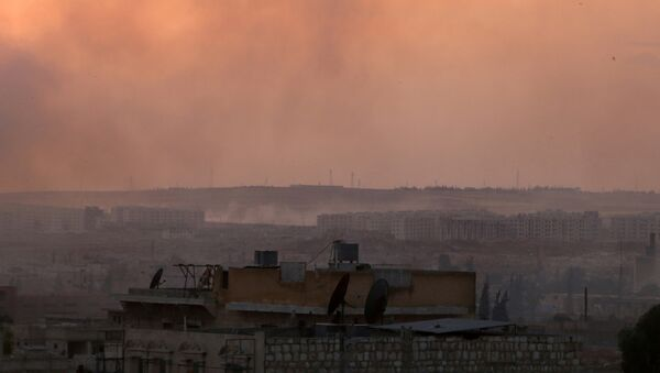 Bombardeos en la provincia siria de Alepo (archivo) - Sputnik Mundo