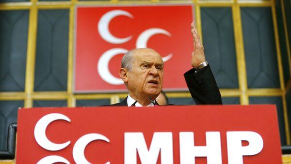 Devlet Bahceli, líder del Partido de Acción Nacionalista turco - Sputnik Mundo