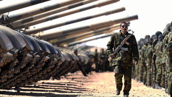 Miembros del Ejército de la Liberación del Pueblo Saharaui en el campamento de los refugiados del Sahara Occidental Dajla en la provincia de Tinduf - Sputnik Mundo