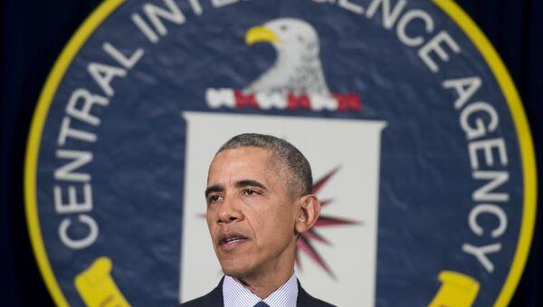 Barack Obama, presidente de EEUU, en la sede de la CIA - Sputnik Mundo