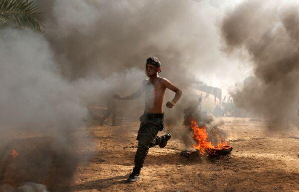 Escuela de combatientes en Palestina - Sputnik Mundo