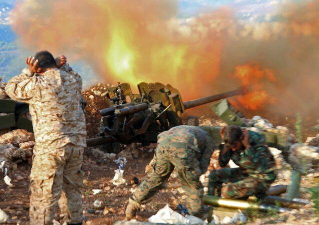 Militares sirios en la provincia de Latakia, foto de archivo