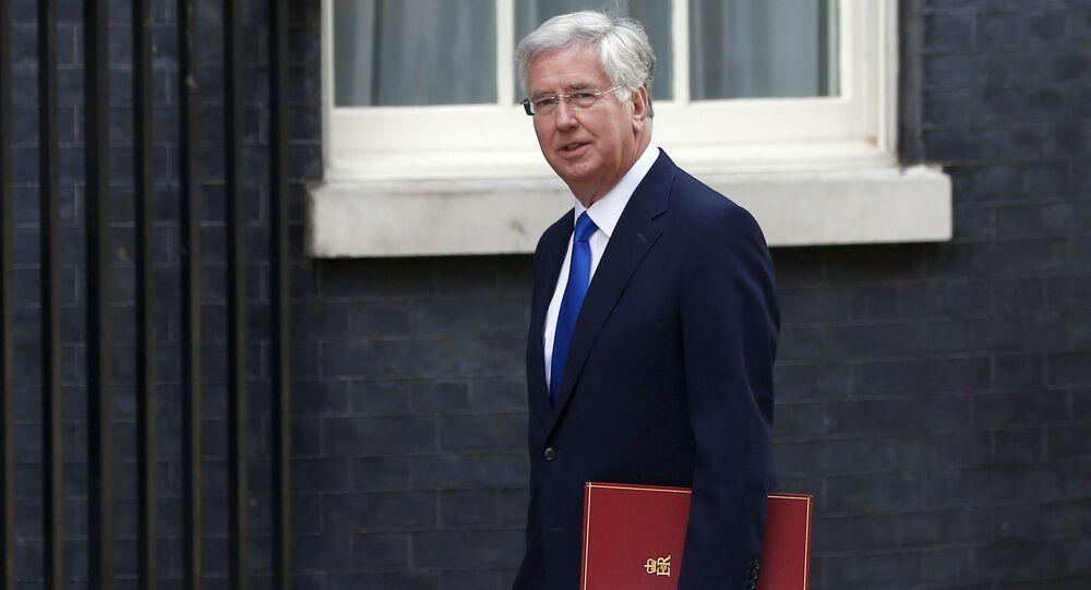 El secretario de Defensa del Reino Unido, Michael Fallon