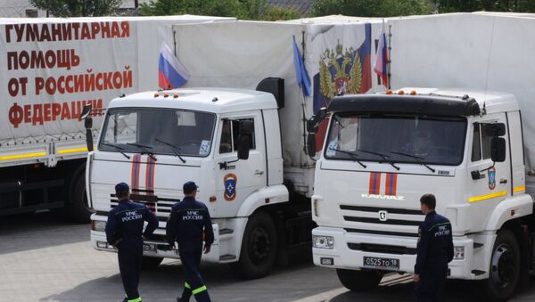 Ayuda humanitaria de Rusia para Donbás (archivo) - Sputnik Mundo
