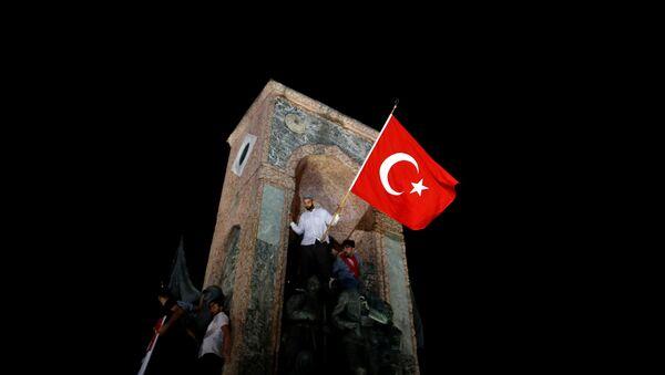 Los partidarios del Gobierno turco - Sputnik Mundo