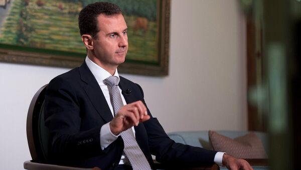 El presidente de Siria Bashar Asad - Sputnik Mundo