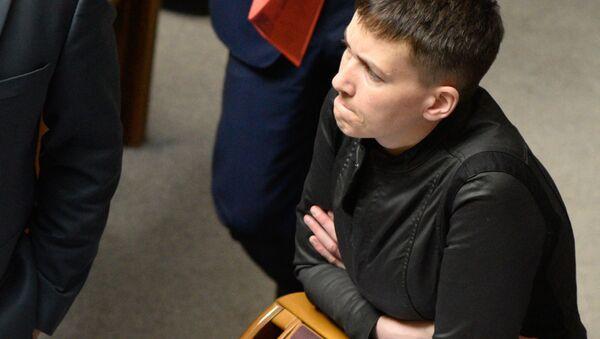 Nadezhda Sávchenko en Rada Suprema - Sputnik Mundo