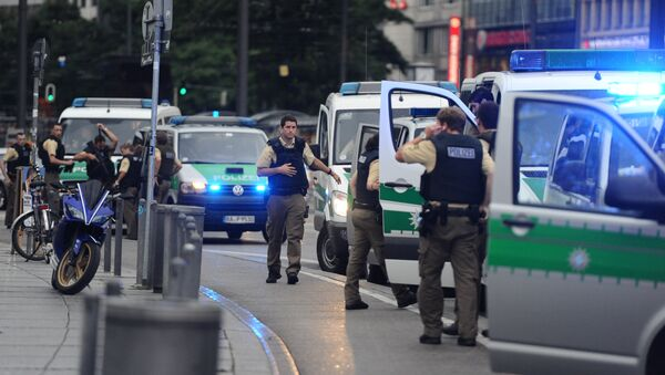 Policía en el área de la plaza Karlsplatz en Múnich - Sputnik Mundo