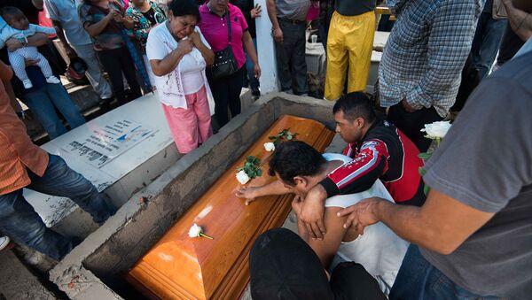 Funeral del periodista mexicano Pedro Tamayo - Sputnik Mundo