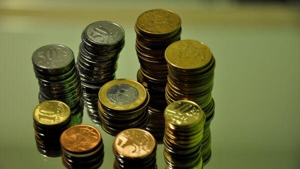 Monedas de reales brasileños (imagen referencial) - Sputnik Mundo