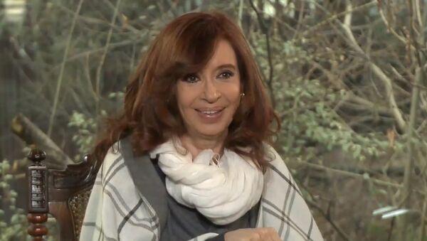 Rueda de prensa internacional de Cristina Kirchner en Calafate - Sputnik Mundo