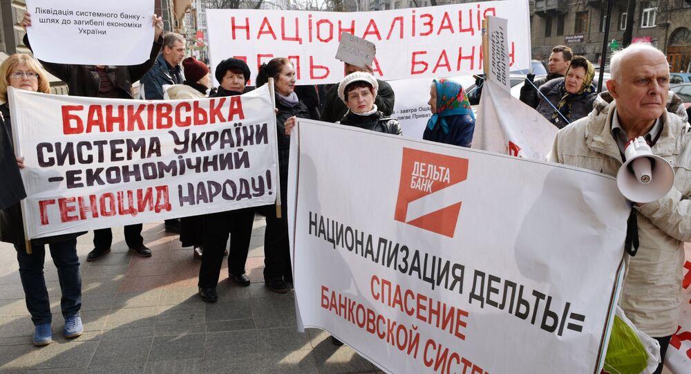 Protestas en Kiev bajo el lema de No a la Corrupción Bancaria!
