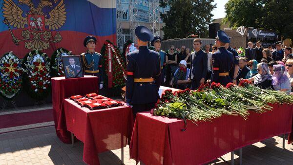 El entierro de los pilotos Jabibulin y Dolguin - Sputnik Mundo