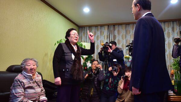 Las últimas mujeres de consuelo protestan contra el acuerdo firmado entre Japón y Corea del Sur - Sputnik Mundo