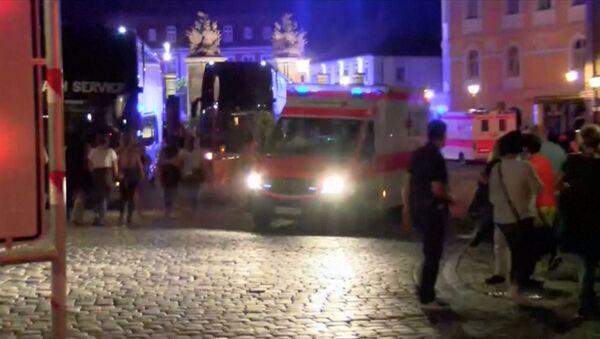 Ataque terrorista en Ansbach: investigaciones en el lugar de la explosión - Sputnik Mundo