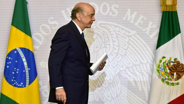 José Serra, ministro de Relaciones Exteriores de Brasil - Sputnik Mundo