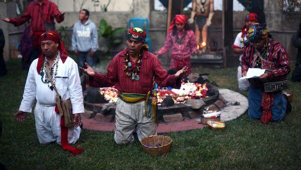 La celebración de Año Nuevo por los mayas - Sputnik Mundo