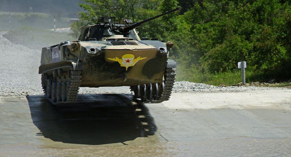 Vehículo de combate participa en los II Juegos Internacionales Army-2016