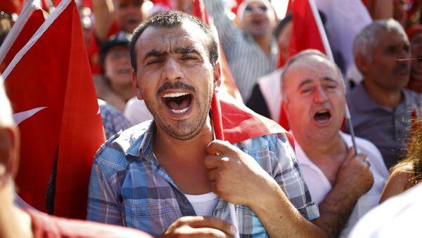 Protestas en Turquía tras la intentona golpista (archivo) - Sputnik Mundo