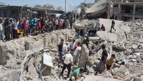 Situación tras el atentado en la ciudad siria de Qamishli - Sputnik Mundo