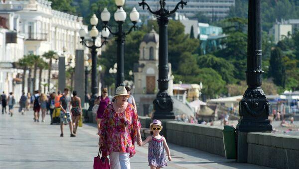 El malecón de Yalta, Crimea - Sputnik Mundo