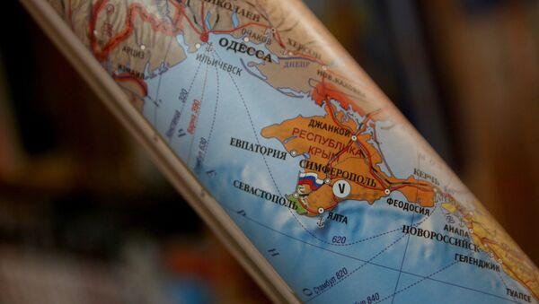 El mapa de Europa con la península de Crimea - Sputnik Mundo