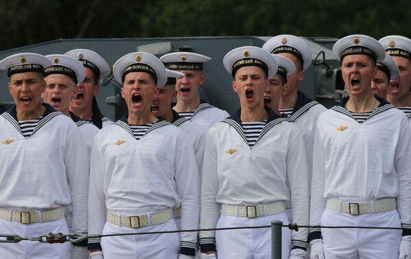 Ensayo general del desfile con motivo del Día de la Armada de Rusia - Sputnik Mundo