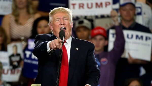 Republican U.S. presidential candidate Donald Trump holds a rally with supporters in Albuquerque, New Mexico, U.S., May 24, 2016 - Sputnik Mundo