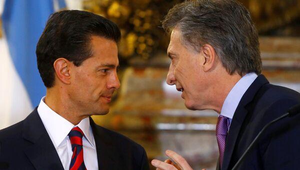 Presidente de México, Enrique Peña Nieto, y presidente de Argentina, Mauricio Macri - Sputnik Mundo