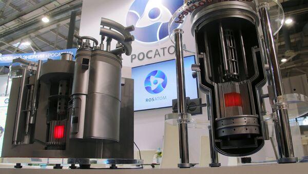 Los modelos de los reactores nucleares modernos de Rosatom en una exhibición en Moscú - Sputnik Mundo