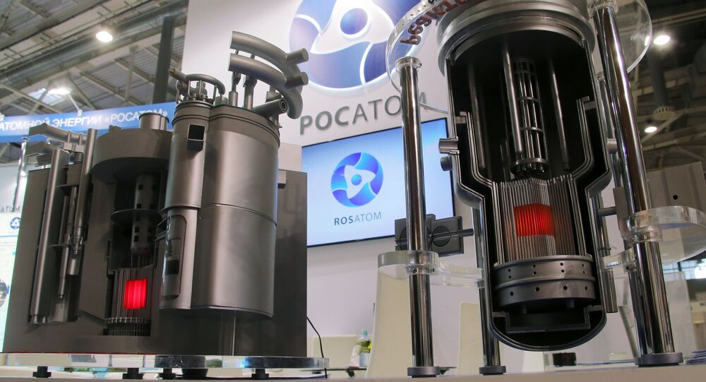Los modelos de los reactores nucleares modernos de Rosatom en una exhibición en Moscú