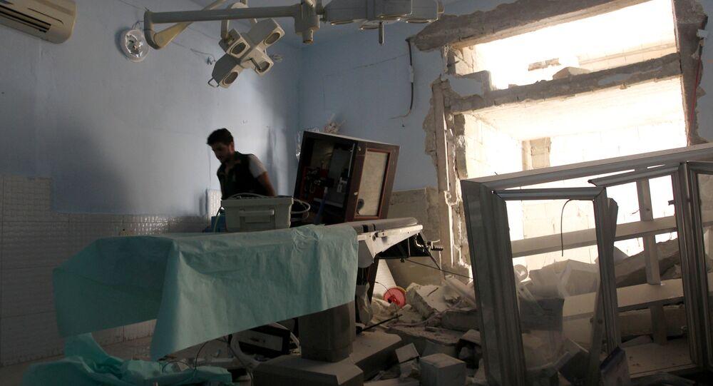 Hospital bombardeado en Latakia, Siria (archivo)