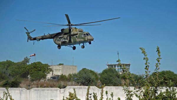 Un helicóptero multipropósito ruso Mi-8 en Siria (archivo) - Sputnik Mundo