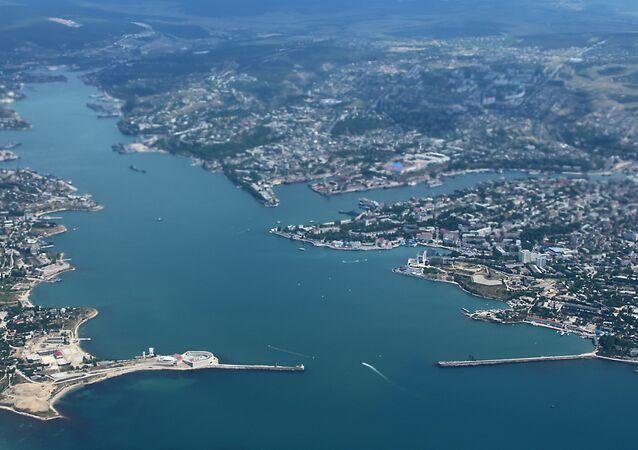 La ciudad de Sebastópol, Crimea, Rusia
