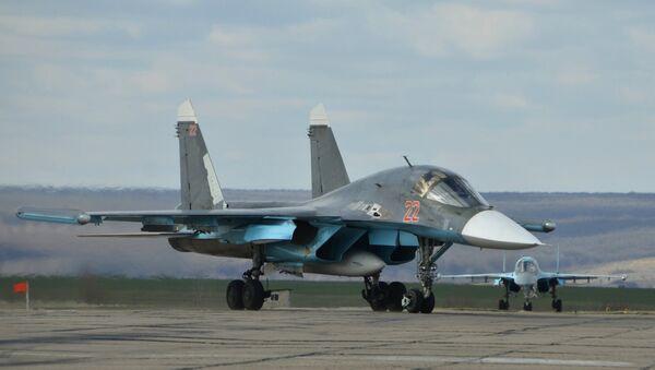 El bombardero táctico ruso Su-34 - Sputnik Mundo