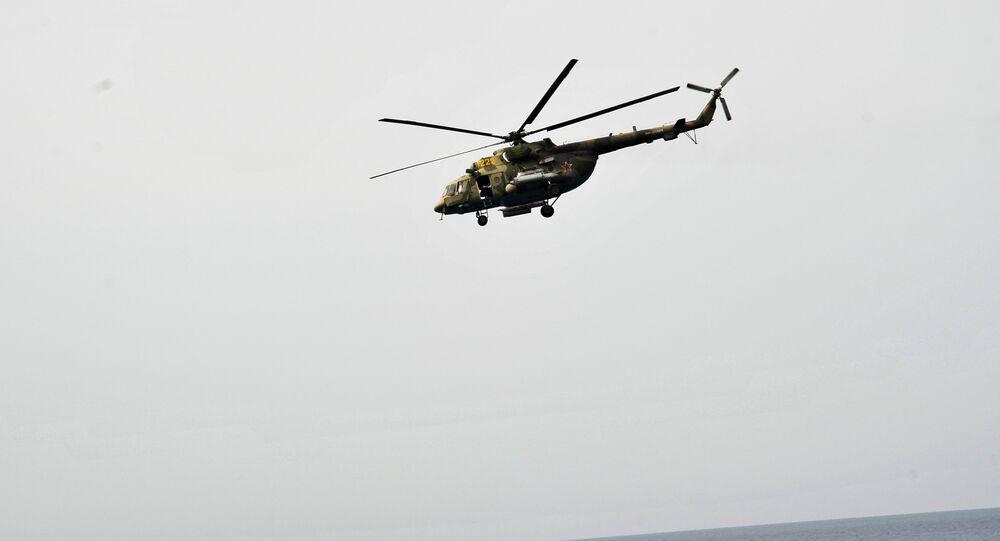 Un Mi-8 del grupo aéreo ruso en Siria (archivo)