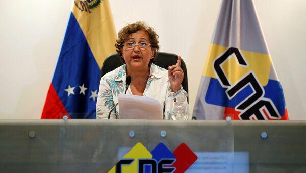Tibisay Lucena, presidenta del Consejo Nacional Electoral (CNE) - Sputnik Mundo