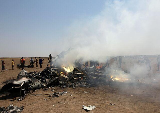 El lugar del derribo de un helicóptero en Siria (archivo)
