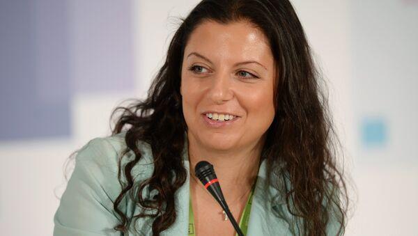 Margarita Simonián, directora jefa del grupo mediático Rossiya Segodnya y de la cadena RT (archivo) - Sputnik Mundo
