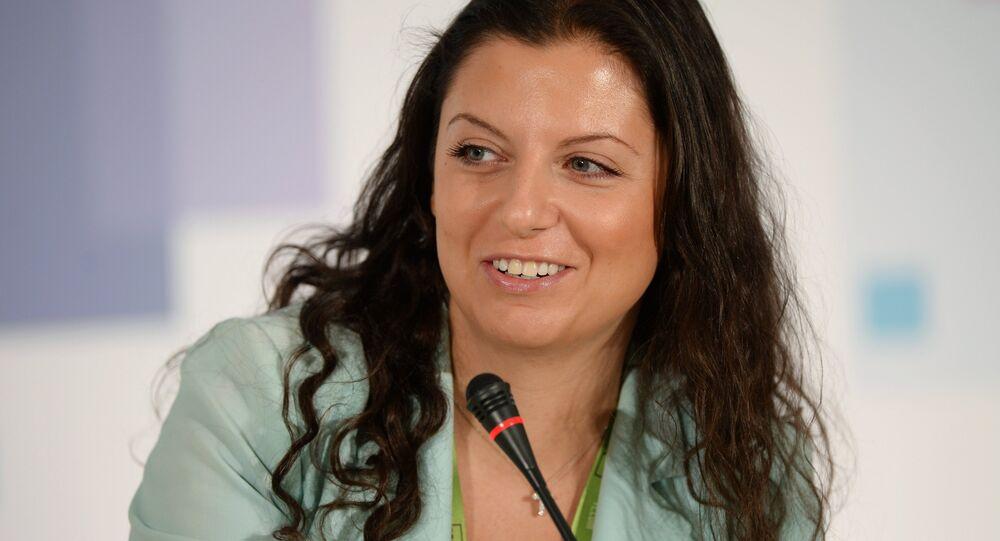 Margarita Simonián, directora del canal RT y la agencia de noticias Sputnik (archivo)
