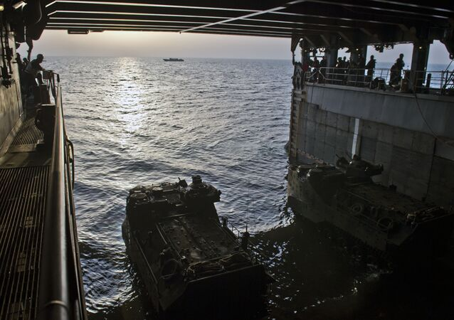 Entrenamientos en el mar de China Meridional